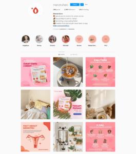 Media sosial instagram menstruhero Zikri Fadhilah