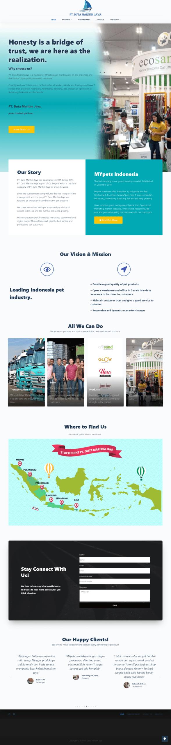 Website Duta Maritim Jaya Medan Indonesia